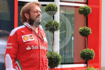 World © Octane Photographic Ltd. Scuderia Ferrari - Gino Rosato. Thursday 30th June 2016, F1 Austrian GP Paddock, Red Bull Ring, Spielberg, Austria. Digital Ref : 1594LB1D0222