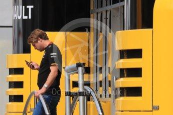 World © Octane Photographic Ltd. Renault Sport F1 Team Jack Clark - Renault Sport Academy. Thursday 30th June 2016, F1 Austrian GP Paddock, Red Bull Ring, Spielberg, Austria. Digital Ref : 1594LB1D0231