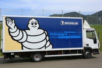 World © Octane Photographic Ltd. Thursday 30th June 2016, Michelin Porsche tyres. Support Race Austrian GP Paddock, Red Bull Ring, Spielberg, Austria. Digital Ref :1595CB5D2425