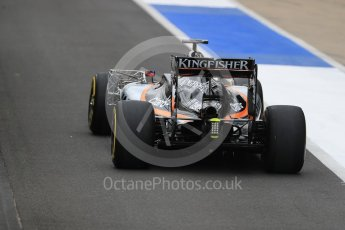 World © Octane Photographic Ltd. Sahara Force India VJM09 - Nikita Mazepin. Tuesday 12th July 2016, F1 In-season testing, Silverstone UK. Digital Ref :1618LB1D7453