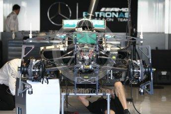 World © Octane Photographic Ltd. Mercedes AMG Petronas W07 Hybrid under build. Thursday 24th November 2016, F1 Abu Dhabi GP - Pitlane. Yas Marina circuit, Abu Dhabi. Digital Ref :