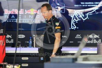 Paul MonaghanWorld © Octane Photographic Ltd. Red Bull Racing Chief Engineer - Paul Monaghan. Thursday 24th November 2016, F1 Abu Dhabi GP - Pitlane, Yas Marina circuit, Abu Dhabi. Digital Ref :