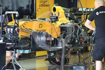 World © Octane Photographic Ltd. Renault Sport F1 Team RS16 - under build. Thursday 24th November 2016, F1 Abu Dhabi GP - Pitlane, Yas Marina circuit, Abu Dhabi. Digital Ref :
