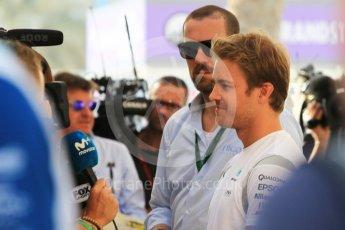 World © Octane Photographic Ltd. F1 Singapore GP paddock prior to the FIA Driver Press Conference part2, Yas Marina circuit, Abu Dhabi. Thursday 24th November 2016. Mercedes AMG Petronas – Nico Rosberg . Digital Ref :