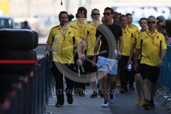 World © Octane Photographic Ltd. Renault Sport F1 Team RS16 – Jolyon Palmer. Thursday 24th November 2016, F1 Abu Dhabi GP - Pitlane, Yas Marina circuit, Abu Dhabi. Digital Ref :