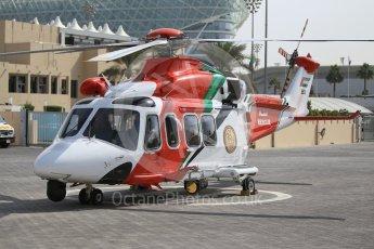 World © Octane Photographic Ltd. UAE rescue/medical helicopter. Friday 25th November 2016, F1 Abu Dhabi GP - Practice 1, Yas Marina circuit, Abu Dhabi. Digital Ref :