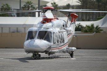 World © Octane Photographic Ltd. UAE medical helicopter. Friday 25th November 2016, F1 Abu Dhabi GP - Practice 1, Yas Marina circuit, Abu Dhabi. Digital Ref :