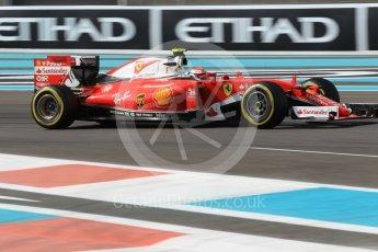 World © Octane Photographic Ltd. Scuderia Ferrari SF16-H – Kimi Raikkonen. Friday 25th November 2016, F1 Abu Dhabi GP - Practice 1, Yas Marina circuit, Abu Dhabi. Digital Ref :