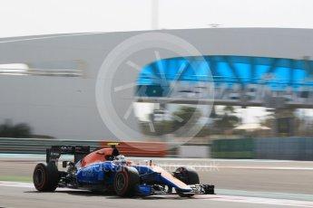 World © Octane Photographic Ltd. Manor Racing MRT05 Development Driver – Jordan King. Friday 25th November 2016, F1 Abu Dhabi GP - Practice 1, Yas Marina circuit, Abu Dhabi. Digital Ref :