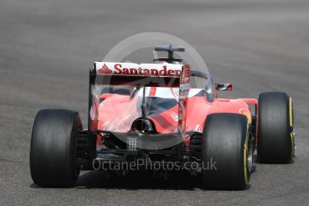 World © Octane Photographic Ltd. Scuderia Ferrari SF16-H – Sebastian Vettel with halo. Friday 25th November 2016, F1 Abu Dhabi GP - Practice 1, Yas Marina circuit, Abu Dhabi. Digital Ref : 1756LB1D7837