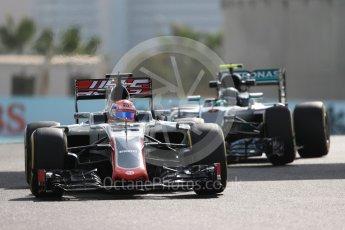 World © Octane Photographic Ltd. Haas F1 Team VF-16 – Romain Grosjean. Friday 25th November 2016, F1 Abu Dhabi GP - Practice 1, Yas Marina circuit, Abu Dhabi. Digital Ref : 1756LB1D8316