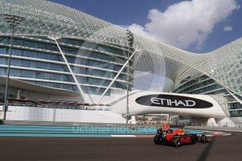 World © Octane Photographic Ltd. Red Bull Racing RB12 – Max Verstappen. Friday 25th November 2016, F1 Abu Dhabi GP - Practice 1, Yas Marina circuit, Abu Dhabi. Digital Ref : 1756LB2D7357