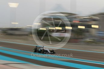 World © Octane Photographic Ltd. Mercedes AMG Petronas W07 Hybrid – Lewis Hamilton. Friday 25th November 2016, F1 Abu Dhabi GP - Practice 2. Yas Marina circuit, Abu Dhabi. Digital Ref :