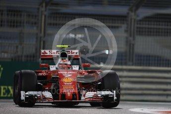 World © Octane Photographic Ltd. Scuderia Ferrari SF16-H – Kimi Raikkonen. Friday 25th November 2016, F1 Abu Dhabi GP - Practice 2, Yas Marina circuit, Abu Dhabi. Digital Ref :