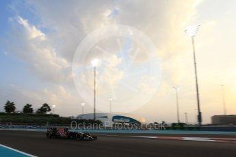 World © Octane Photographic Ltd. Scuderia Toro Rosso STR11 – Carlos Sainz. Friday 25th November 2016, F1 Abu Dhabi GP - Practice 2, Yas Marina circuit, Abu Dhabi. Digital Ref :