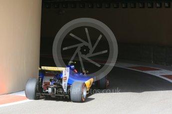World © Octane Photographic Ltd. Sauber F1 Team C35 – Felipe Nasr. Saturday 26th November 2016, F1 Abu Dhabi GP - Practice 3, Yas Marina circuit, Abu Dhabi. Digital Ref :