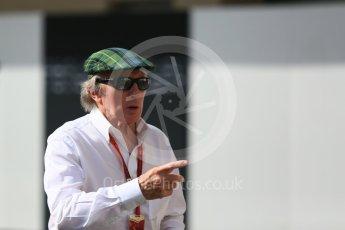 World © Octane Photographic Ltd. Sir Jackie Stewart. Saturday 26th November 2016, F1 Abu Dhabi GP - Practice 3. Yas Marina circuit, Abu Dhabi. Digital Ref :