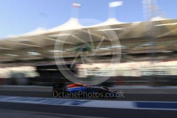 World © Octane Photographic Ltd. Manor Racing MRT05 – Esteban Ocon. Saturday 26th November 2016, F1 Abu Dhabi GP - Practice 3, Yas Marina circuit, Abu Dhabi. Digital Ref :