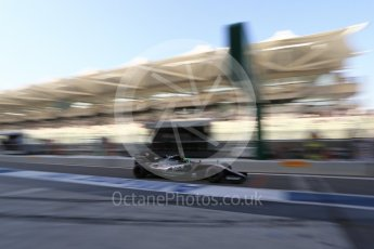 World © Octane Photographic Ltd. Sahara Force India VJM09 - Nico Hulkenberg. Saturday 26th November 2016, F1 Abu Dhabi GP - Practice 3, Yas Marina circuit, Abu Dhabi. Digital Ref :