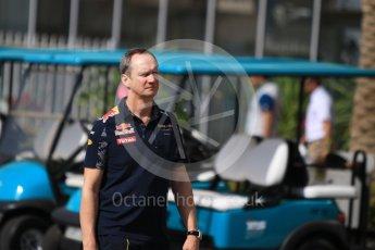 World © Octane Photographic Ltd. Red Bull Racing Chief Engineer- Paul Monaghan. Saturday 26th November 2016, F1 Abu Dhabi GP - Paddock, Yas Marina circuit, Abu Dhabi. Digital Ref : 1764CB1D2239