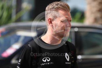 World © Octane Photographic Ltd. Renault Sport F1 Team - Kevin Magnussen. Saturday 26th November 2016, F1 Abu Dhabi GP - Paddock, Yas Marina circuit, Abu Dhabi. Digital Ref : 1764LB1D0002