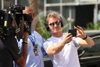 World © Octane Photographic Ltd. Mercedes AMG Petronas W07 Hybrid – Nico Rosberg. Saturday 26th November 2016, F1 Abu Dhabi GP - Paddock. Yas Marina circuit, Abu Dhabi. Digital Ref : 1764LB1D0297
