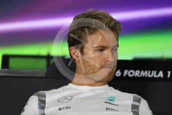 World © Octane Photographic Ltd. F1 FIA Driver Press Conference part2, Yas Marina circuit, Abu Dhabi. Thursday 24th November 2016. Mercedes AMG Petronas – Nico Rosberg . Digital Ref :