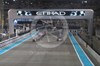 World © Octane Photographic Ltd. Pierre Gasly leads the race start. Saturday 26th November 2016, GP2 Race 1, Yas Marina Circuit, Abu Dhabi. Digital Ref :
