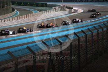 World © Octane Photographic Ltd. Pierre Gasly leads the race start. Saturday 26th November 2016, GP2 Race 1, Yas Marina Circuit, Abu Dhabi. Digital Ref :