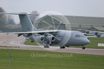 World © Octane Photographic Ltd. April 15th 2016 RAF Coningsby. BAe146 C3. Digital Ref :