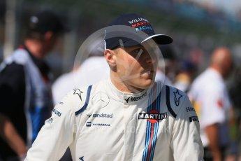 World © Octane Photographic Ltd. Williams Martini Racing - Valtteri Bottas. Sunday 20th March 2016, F1 Australian GP - Drivers Parade, Melbourne, Albert Park, Australia. Digital Ref : 1523LB1D6362
