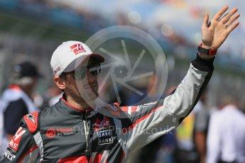 World © Octane Photographic Ltd. Haas F1 Team – Romain Grosjean. Sunday 20th March 2016, F1 Australian GP - Drivers Parade, Melbourne, Albert Park, Australia. Digital Ref : 1523LB1D6397