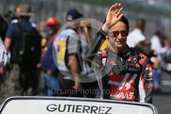 World © Octane Photographic Ltd. Haas F1 Team - Esteban Gutierrez. Sunday 20th March 2016, F1 Australian GP - Drivers Parade, Melbourne, Albert Park, Australia. Digital Ref : 1523LB1D6435