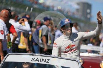 World © Octane Photographic Ltd. Scuderia Toro Rosso – Carlos Sainz. Sunday 20th March 2016, F1 Australian GP - Drivers Parade, Melbourne, Albert Park, Australia. Digital Ref : 1523LB1D6537
