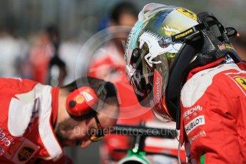 World © Octane Photographic Ltd. Scuderia Ferrari – Sebastian Vettel. Sunday 20th March 2016, F1 Australian GP - Grid, Melbourne, Albert Park, Australia. Digital Ref : 1523LB1D6698