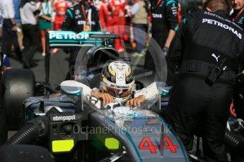 World © Octane Photographic Ltd. Mercedes AMG Petronas – Lewis Hamilton. Sunday 20th March 2016, F1 Australian GP - Grid, Melbourne, Albert Park, Australia. Digital Ref : 1523LB1D6745