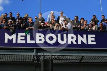 World © Octane Photographic Ltd. Fans at Melbourne. Sunday 20th March 2016, F1 Australian GP Race – Parc Ferme, Melbourne, Albert Park, Australia. Digital Ref : 1525LB1D7639