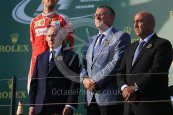 World © Octane Photographic Ltd. Sir Jackie Stewart. Sunday 20th March 2016, F1 Australian GP Race - Podium, Melbourne, Albert Park, Australia. Digital Ref : 1525LB1D7764