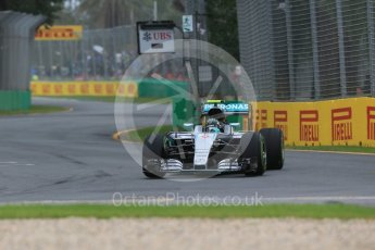 World © Octane Photographic Ltd. Mercedes AMG Petronas W07 Hybrid – Nico Rosberg. Friday 18th March 2016, F1 Australian GP Practice 1, Melbourne, Albert Park, Australia. Digital Ref : 1516LB1D2072