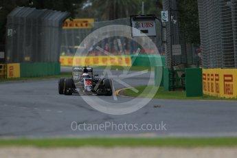 World © Octane Photographic Ltd. McLaren Honda MP4-31 – Jenson Button. Friday 18th March 2016, F1 Australian GP Practice 1, Melbourne, Albert Park, Australia. Digital Ref : 1516LB1D2253