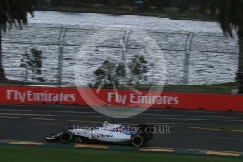 World © Octane Photographic Ltd. Williams Martini Racing, Williams Mercedes FW38 – Valtteri Bottas. Friday 18th March 2016, F1 Australian GP Practice 1, Melbourne, Albert Park, Australia. Digital Ref : 1516LB1D2742