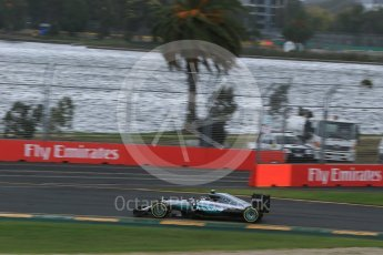 World © Octane Photographic Ltd. Mercedes AMG Petronas W07 Hybrid – Nico Rosberg. Friday 18th March 2016, F1 Australian GP Practice 1, Melbourne, Albert Park, Australia. Digital Ref : 1516LB1D2800