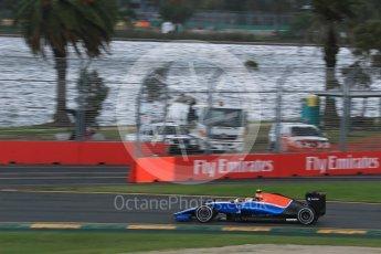 World © Octane Photographic Ltd. Manor Racing MRT05 – Rio Haryanto. Friday 18th March 2016, F1 Australian GP Practice 1, Melbourne, Albert Park, Australia. Digital Ref : 1516LB1D2847