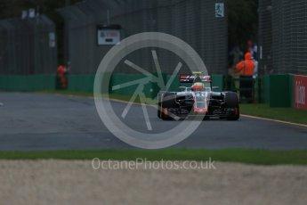 World © Octane Photographic Ltd. Haas F1 Team VF-16 - Esteban Gutierrez. Friday 18th March 2016, F1 Australian GP Practice 1, Melbourne, Albert Park, Australia. Digital Ref : 1516LB1D2937