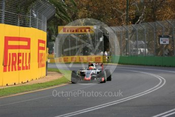 World © Octane Photographic Ltd. Haas F1 Team VF-16 - Esteban Gutierrez. Friday 18th March 2016, F1 Australian GP Practice 1, Melbourne, Albert Park, Australia. Digital Ref : 1516LB5D1198