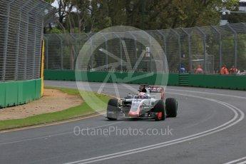 World © Octane Photographic Ltd. Haas F1 Team VF-16 – Romain Grosjean. Friday 18th March 2016, F1 Australian GP Practice 1, Melbourne, Albert Park, Australia. Digital Ref : 1516LB5D1235