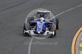 World © Octane Photographic Ltd. Sauber F1 Team C35 – Marcus Ericsson. Saturday 19th March 2016, F1 Australian GP Qualifying, Melbourne, Albert Park, Australia. Digital Ref : 1521LB1D5092