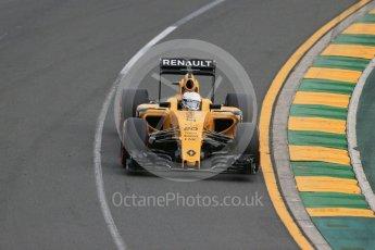 World © Octane Photographic Ltd. Renault Sport F1 Team RS16 - Kevin Magnussen. Saturday 19th March 2016, F1 Australian GP Qualifying, Melbourne, Albert Park, Australia. Digital Ref : 1521LB1D5135