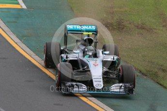 World © Octane Photographic Ltd. Mercedes AMG Petronas W07 Hybrid – Nico Rosberg. Saturday 19th March 2016, F1 Australian GP Qualifying, Melbourne, Albert Park, Australia. Digital Ref : 1521LB1D5165