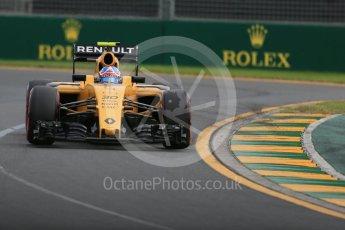 World © Octane Photographic Ltd. Renault Sport F1 Team RS16 – Jolyon Palmer. Saturday 19th March 2016, F1 Australian GP Qualifying, Melbourne, Albert Park, Australia. Digital Ref : 1521LB1D5511
